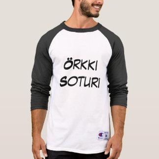 örkki  soturi - orc warrior in Finnish T-shirts