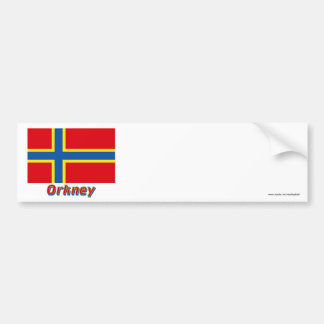 Orkney Flag with Name Bumper Sticker
