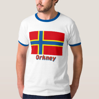 Orkney Flag with Name T-Shirt