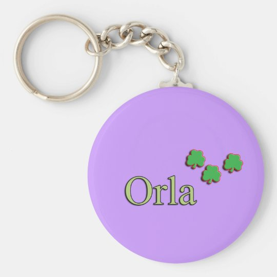 Orla Custom Name Basic Round Button Key Ring
