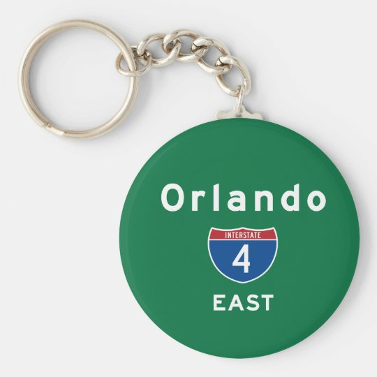 Orlando 4 basic round button key ring