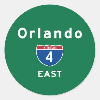Orlando 4 classic round sticker