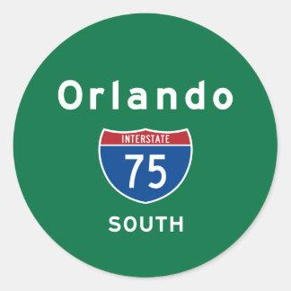 Orlando 75 classic round sticker