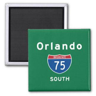 Orlando 75 square magnet