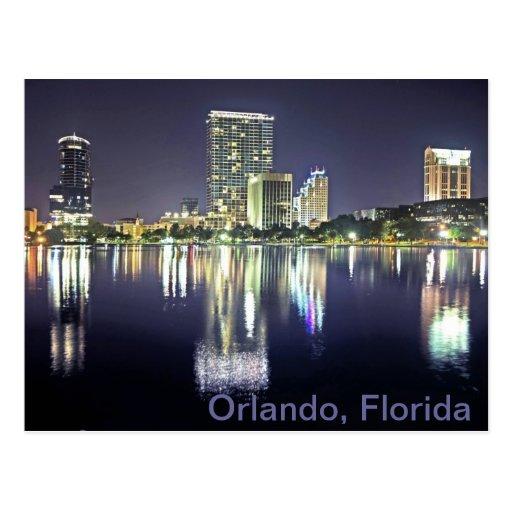 Orlando, Florida across Lake Eola Postcard