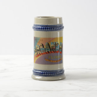 Orlando Florida FL Old Vintage Travel Souvenir Beer Stein