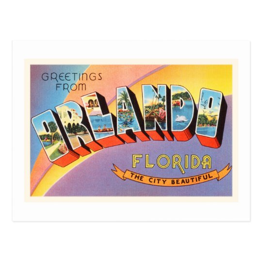Orlando Florida FL Old Vintage Travel Souvenir Postcard