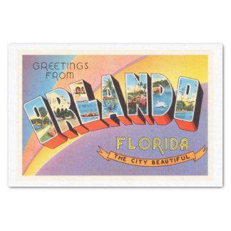 Orlando Florida FL Old Vintage Travel Souvenir Tissue Paper