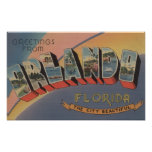 Orlando, Florida - Large Letter Scenes 2 Poster