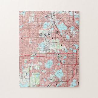 Orlando Florida Map (1995) Jigsaw Puzzle