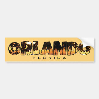 Orlando Florida palm trees bumper sticker