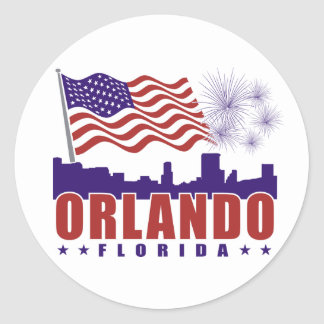 Orlando Florida Patriotic Sticker