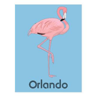 Orlando Florida Pink Flamingo Postcard