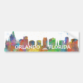 ORLANDO, FLORIDA SKYLINE BUMPER STICKER