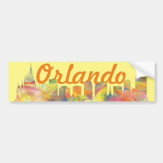 ORLANDO, FLORIDA SKYLINE WB1 - BUMPER STICKER