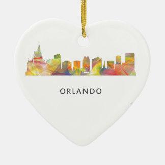 ORLANDO, FLORIDA SKYLINE WB1 - CERAMIC HEART DECORATION