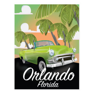 Orlando Florida vintage travel poster Postcard