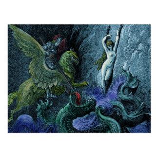 Orlando Furioso vintage gothic postcard