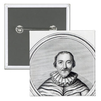 Orlando Gibbons, engraved by J. Caldwall 15 Cm Square Badge