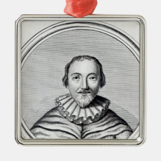 Orlando Gibbons, engraved by J. Caldwall Christmas Ornament