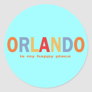 Orlando is My Happy Place Classic Round Sticker