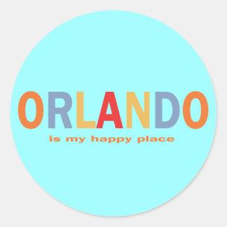 Orlando is My Happy Place Round Sticker