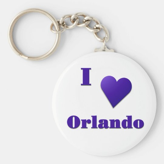 Orlando -- Midnight Blue Basic Round Button Key Ring
