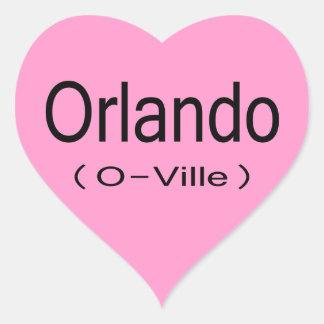 Orlando (O-Ville) Heart Sticker