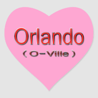 Orlando (O-Ville) red Heart Sticker