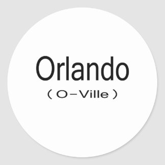 Orlando (O-Ville) Round Sticker
