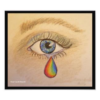 Orlando Pride Teardrop Photo Print