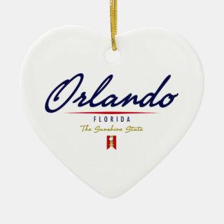 Orlando Script Christmas Ornament