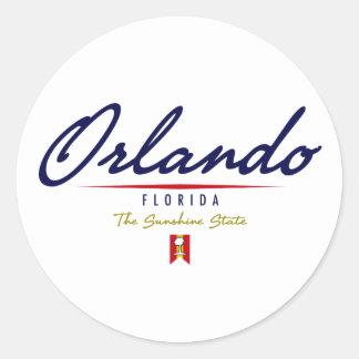 Orlando Script Classic Round Sticker