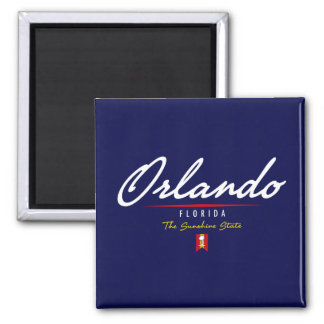 Orlando Script Square Magnet