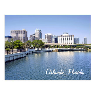 Orlando skyline from Lake Lucerne Postcard