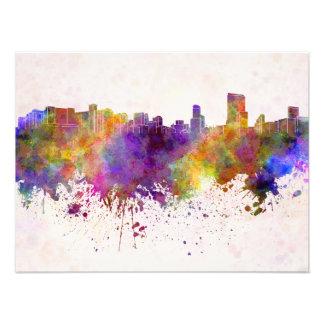 Orlando skyline in watercolor background photo