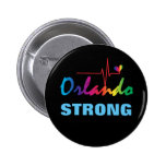 Orlando Strong Rainbow Pulse Heart LGBT Round 6 Cm Round Badge