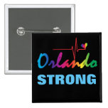 Orlando Strong Rainbow Pulse Heart LGBT Square 15 Cm Square Badge