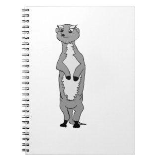 """Orlav"" the meerkat (black and white) Notebook"
