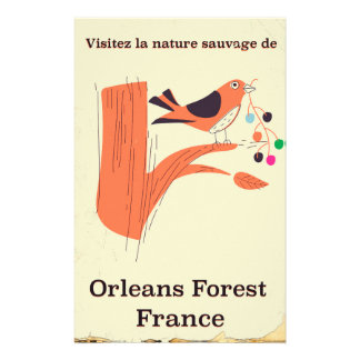 Orleans Forest France travel poster Stationery