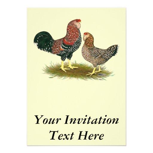 Orloff:  Spangled Pair Personalized Invites