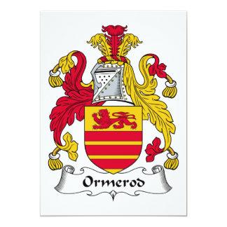Ormerod Family Crest 13 Cm X 18 Cm Invitation Card