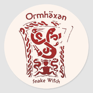 Ormhäxan Snake Witch Rune Classic Round Sticker
