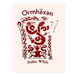 Ormhäxan Snake Witch Rune Postcard