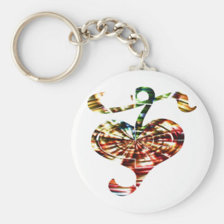 Ornament  17 - Cosmic Healing Red Sparkles Key Chains