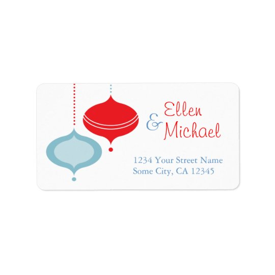 Ornament Address Labels
