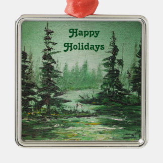 Ornament Ann Hayes Painting Green Forest