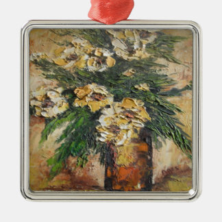 Ornament Ann Hayes Painting Yellow Flowers