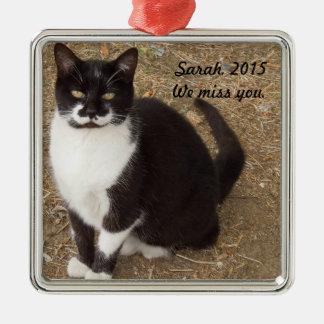 Ornament: Black Tuxedo Cat Sitting Christmas Ornament