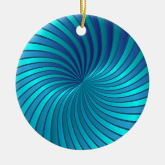 Ornament blue spiral vortex